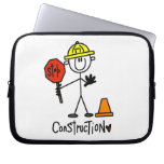 Construction Worker Stick Figure Laptop Sleeves