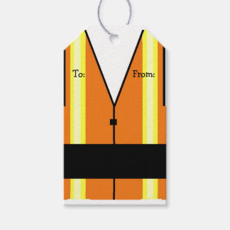 Construction Worker Vest Gift Tags
