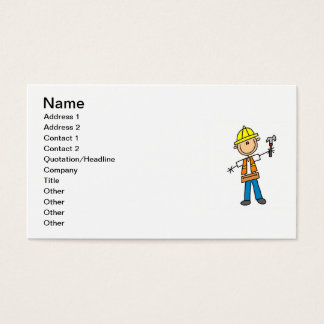 Construction Worker with Hammer Business Card