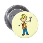 Construction Worker with Hammer Pin