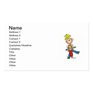 Construction Worker With Jack Hammer Gifts Business Card Template