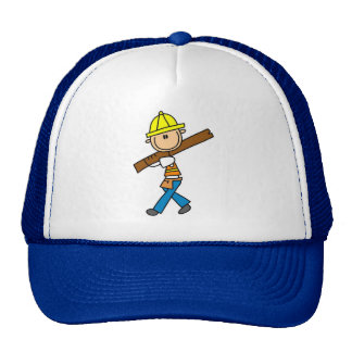 Construction Worker with Lumber Hat