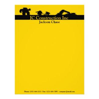 Construction Workers Equipment Letterhead