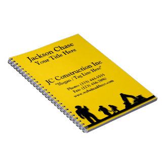 Construction Workers Equipment Spiral Notebook