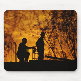 Construction Workers Mouse Pad