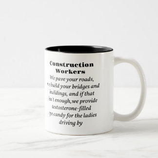Construction Workers Two-Tone Coffee Mug