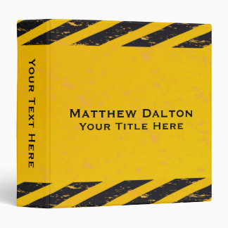 """Construction Yellow and Black Binder 1.5"""""""