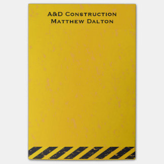 Construction Yellow and Black Post-it® Notes