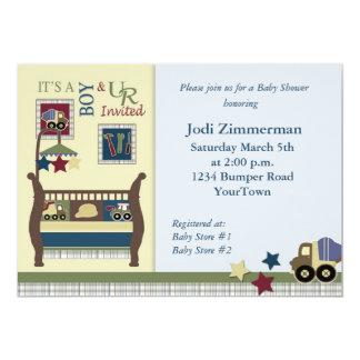 "Construction Zone Baby Shower Invitation 5"" X 7"" Invitation Card"