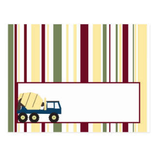 Construction Zone Baby Shower Writable Place Card