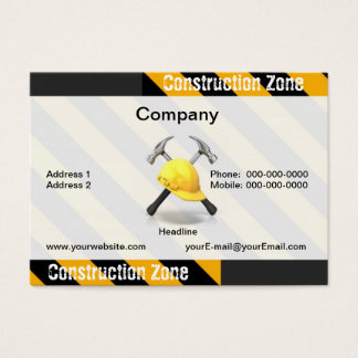 Construction Zone Business Card