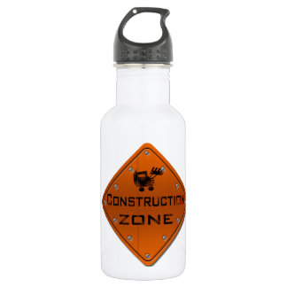 Construction Zone 18oz Water Bottle