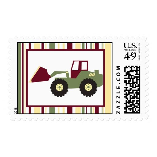 Construction Zone Postage Stamps