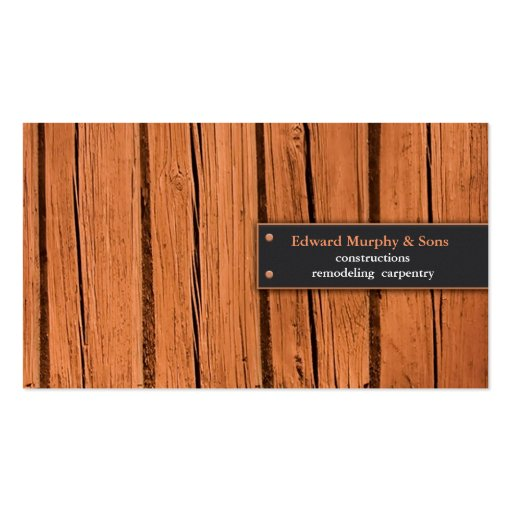 Constructions/Carpentry Business Card
