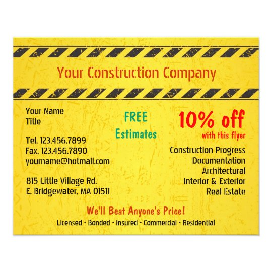 constructions flyers