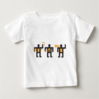 constructivist style little men baby T-Shirt