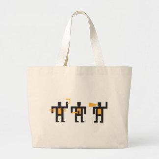 constructivist style little men large tote bag