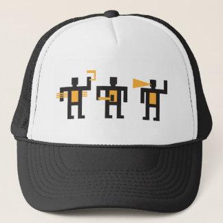 constructivist style little men trucker hat
