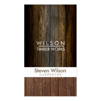Constructor de madera de la artesanía en madera de tarjetas de visita