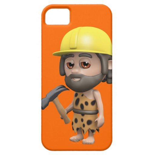 Constructor divertido del hombre de las cavernas funda para iPhone SE/5/5s