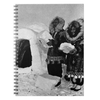 Constructores 1970 del iglú de los E.E.U.U. Alaska Libro De Apuntes Con Espiral
