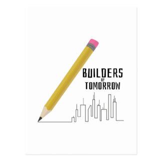 Constructores de mañana tarjetas postales