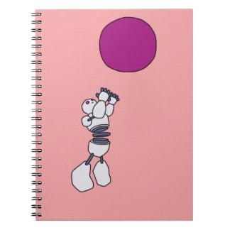 Constructus Robot Photo Notebook Pink