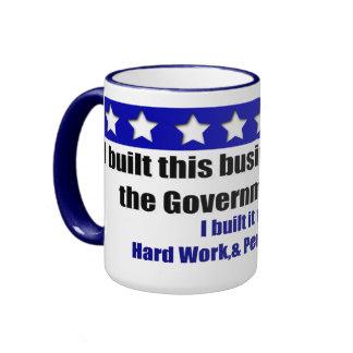 Construí este negocio taza de dos colores