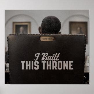 Construí este trono: La silla vacía habla Poster
