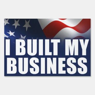 Construí mi negocio carteles