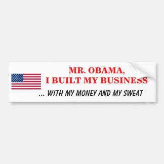 Construí mi negocio mi sudor del dinero pegatina para auto