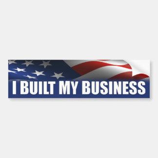 Construí mi negocio - Obama anti Pegatina De Parachoque