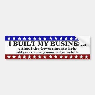 Construí mi negocio pegatina de parachoque