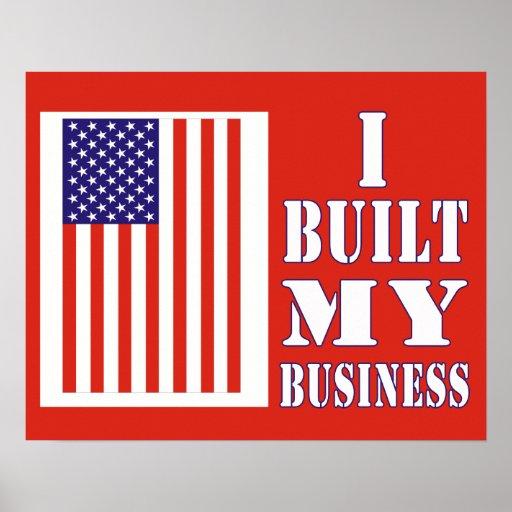 Construí mi poster político de la bandera del nego