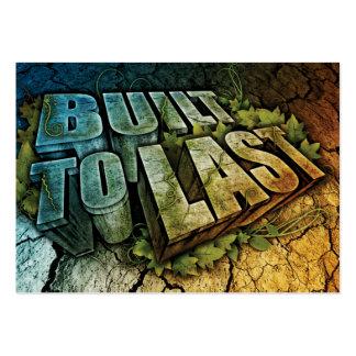 Construido al último - tarjeta del negocio/del Out Tarjetas De Visita