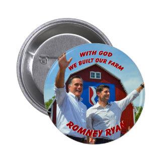 CONSTRUIMOS NUESTRO botón de Romney Ryan de la GRA Pin Redondo De 2 Pulgadas