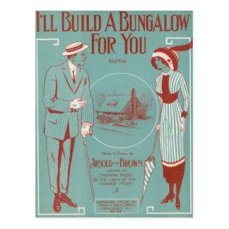 Construiré una casa de planta baja para usted postales