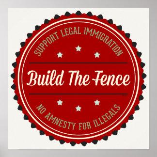 Construya la cerca posters