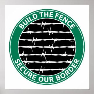 Construya la cerca póster