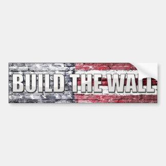 Construya la pared pegatina para auto
