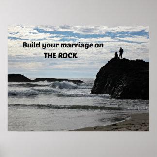 Construya su boda en la roca impresiones