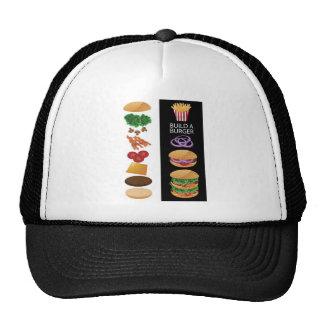 Construya una hamburguesa gorro de camionero