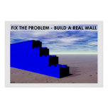 Construya una pared real posters