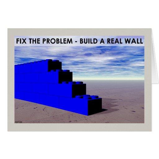 Construya una pared real tarjeta de felicitación