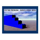 Construya una pared real tarjeta postal