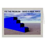 Construya una pared real tarjetón