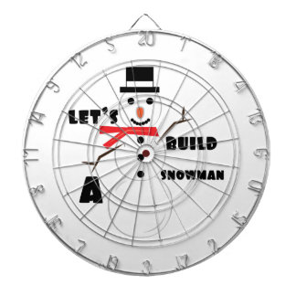 Construyamos un muñeco de nieve tablero de dardos