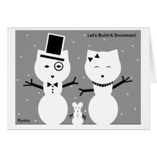 Construyamos una tarjeta del muñeco de nieve