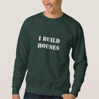 Construyo la manga larga T de las casas Sudadera Con Capucha