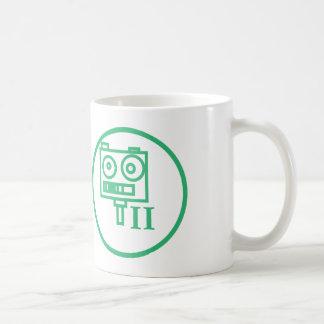 """""""Construyo los robots"""" badge (II) LLANO Taza Básica Blanca"""